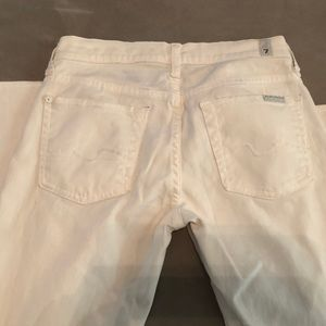 7 for all Mankind Straight Leg White Jeans